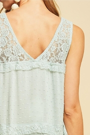 Entro Solid Dotted V-Neck - Other