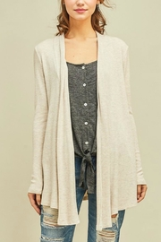 Entro Solid Draped Cardigan - Product Mini Image