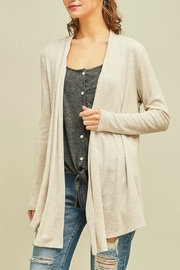 Entro Solid Draped Cardigan - Front full body