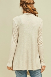 Entro Solid Draped Cardigan - Back cropped
