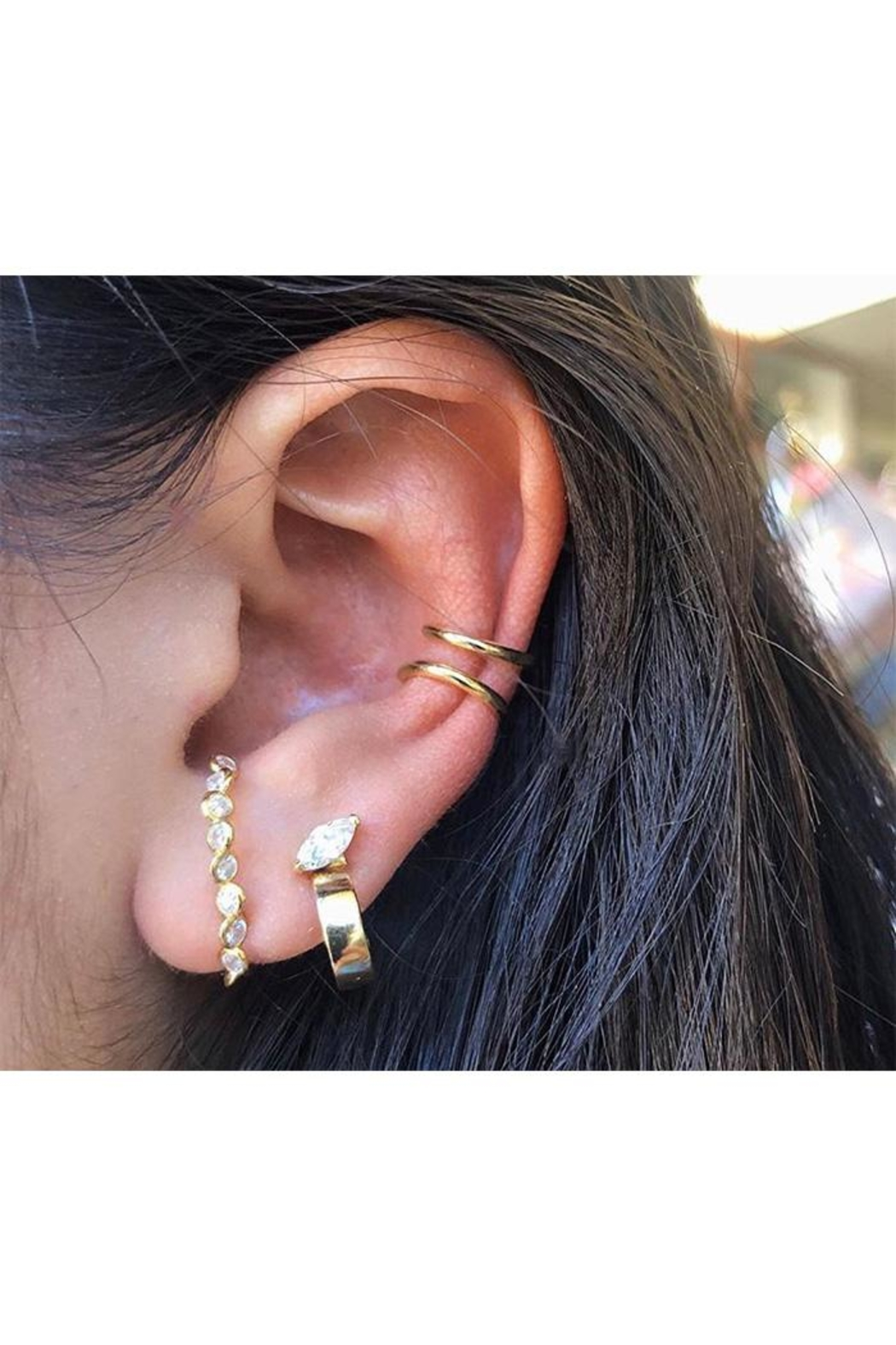 Lets Accessorize Solid Ear Cuff - Front Full Image