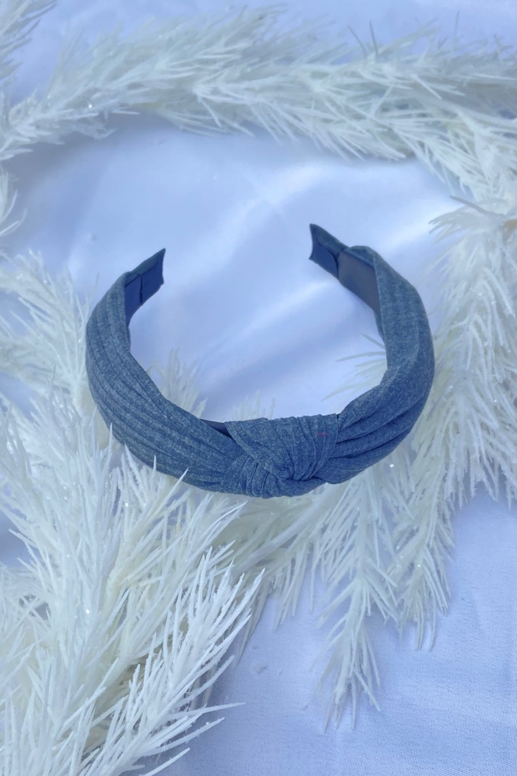 CJ Rose solid fabric headband - Front Cropped Image