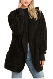 Hem and Thread Solid Faux Fur Cozy Jacket - Product Mini Image