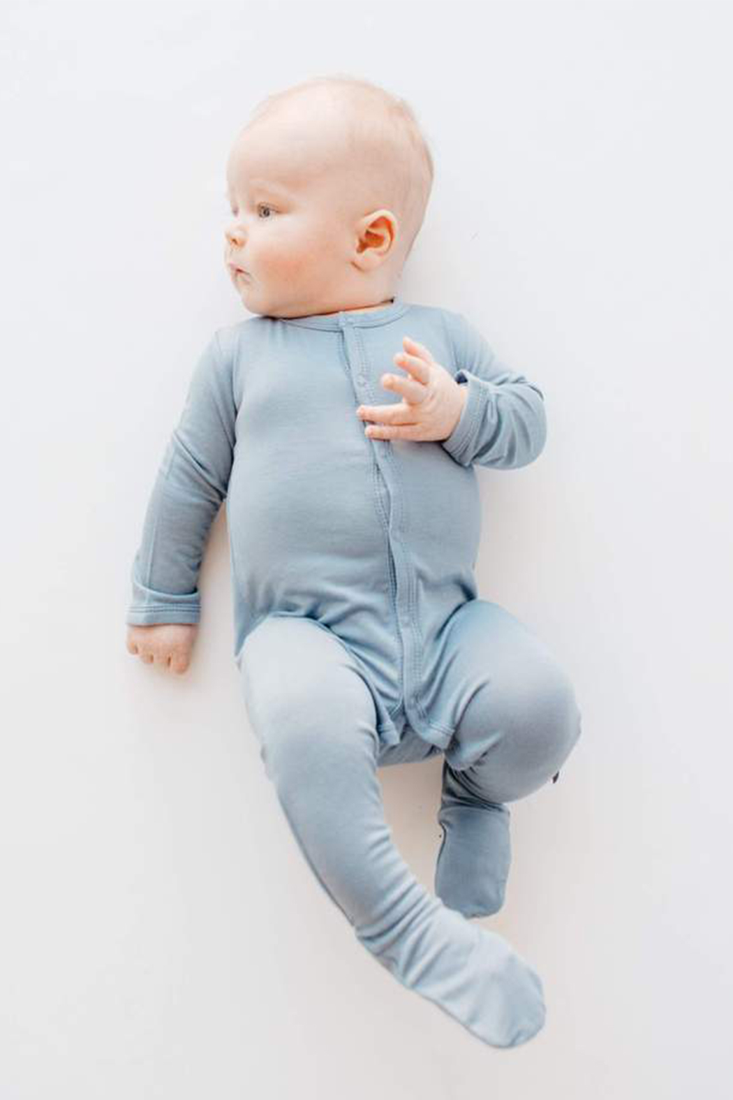 Kyte Baby Solid Footie - Front Full Image