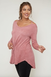 Peach Love California Solid Jersey Top - Product Mini Image