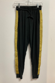 Love It Solid Jogger with Gold side stripe - Product Mini Image