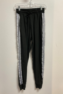 Love It Solid Jogger with Silver/White Side stripe - Product List Image