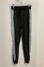Love It Solid Jogger with Silver/White Side stripe - Product Mini Image