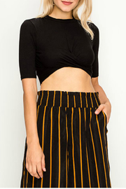 Hashttag Solid knit crop top - Product Mini Image