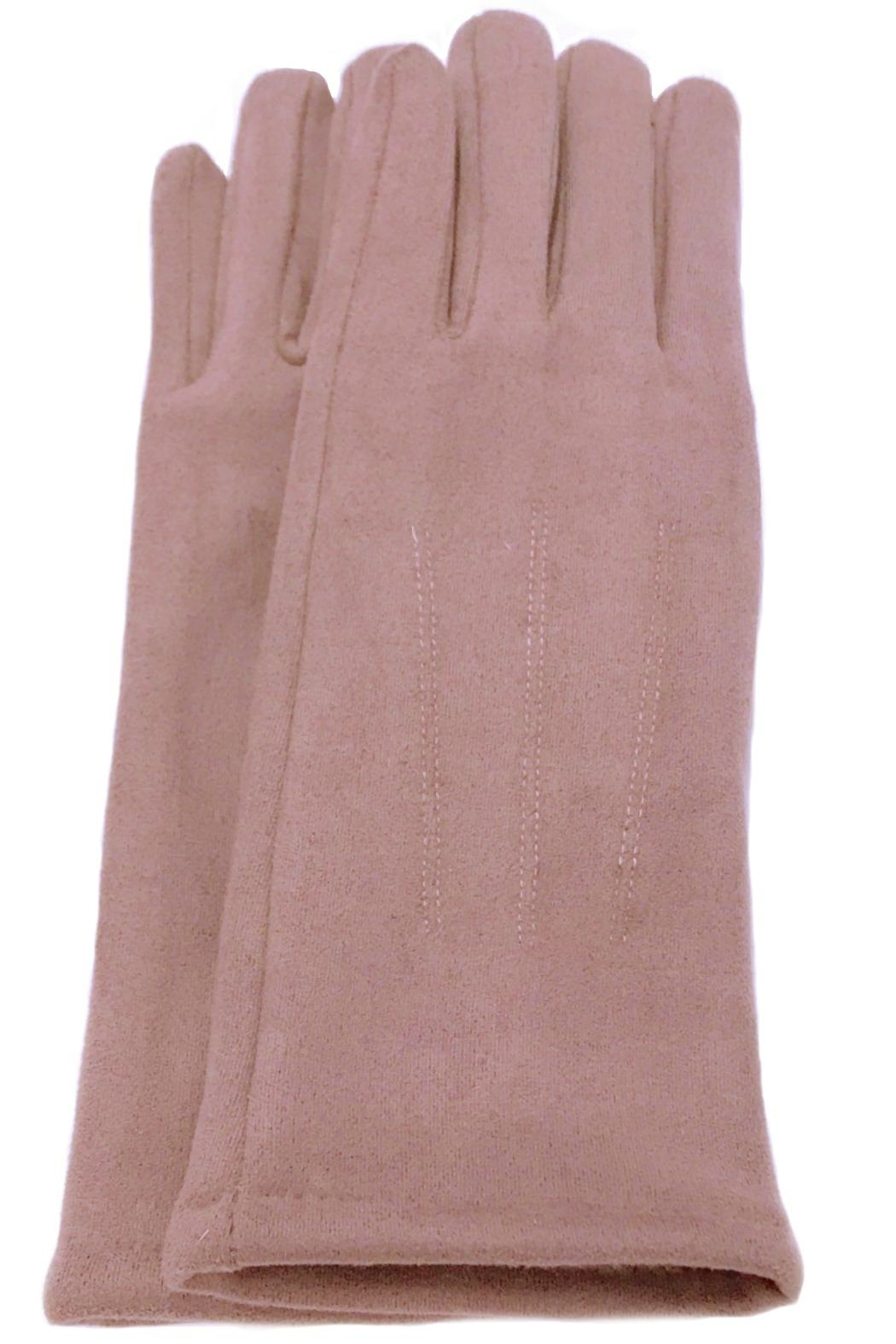 ANTONELLO SERIO Solid Knit Gloves - Front Cropped Image