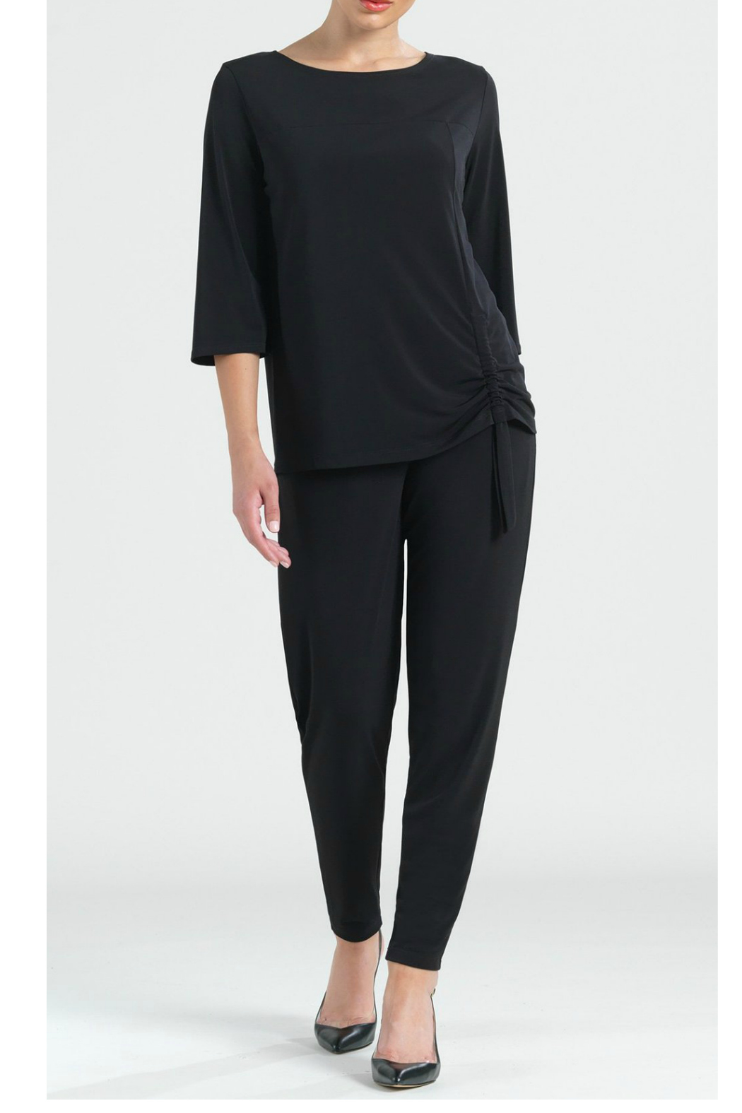 Clara Sunwoo Solid knit top w/ faux pull-tie detail - Main Image
