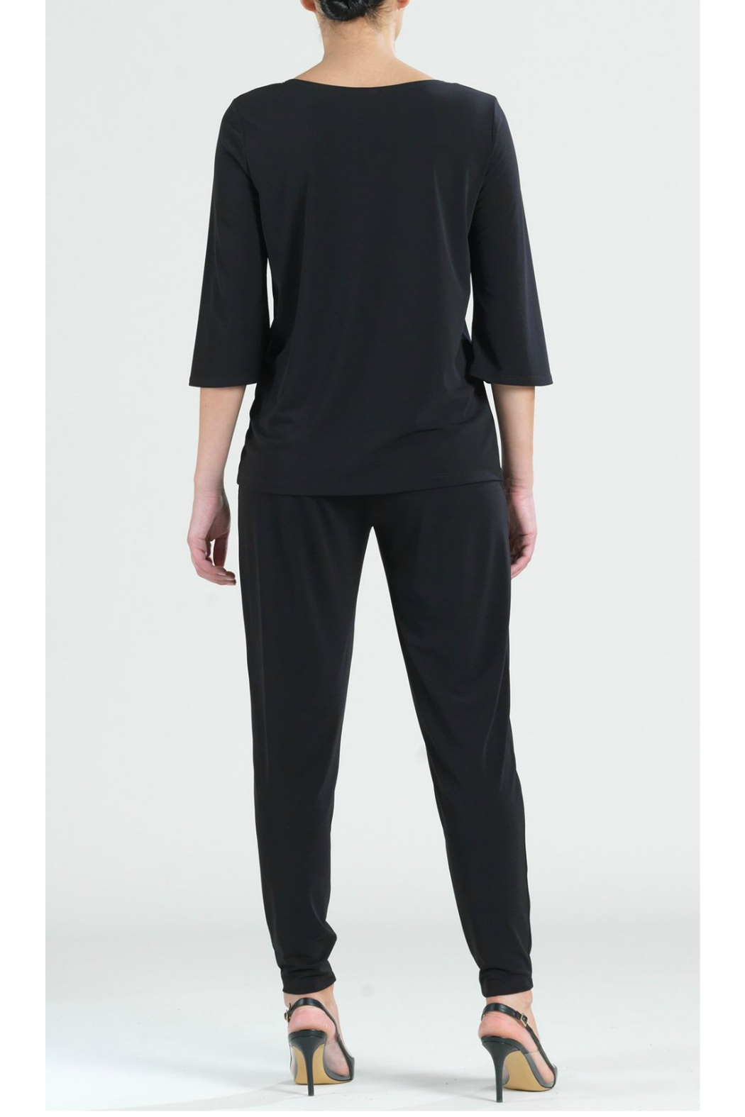 Clara Sunwoo Solid knit top w/ faux pull-tie detail - Side Cropped Image