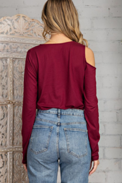 143 Story Solid Knit Top with Cutouts - Alternate List Image