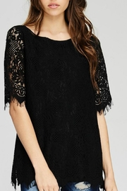 Jodifl Solid Lace Top - Product Mini Image