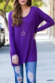 Riah Fashion Solid Long-Sleeved-Tunic - Product Mini Image