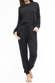 Fornia Solid Black LS & Jogger Lounge Set - Other