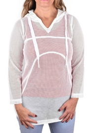 Ethyl Solid Mesh Hoodie - Product Mini Image