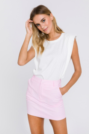 Grey Lab Solid Mini Skirt - Front cropped