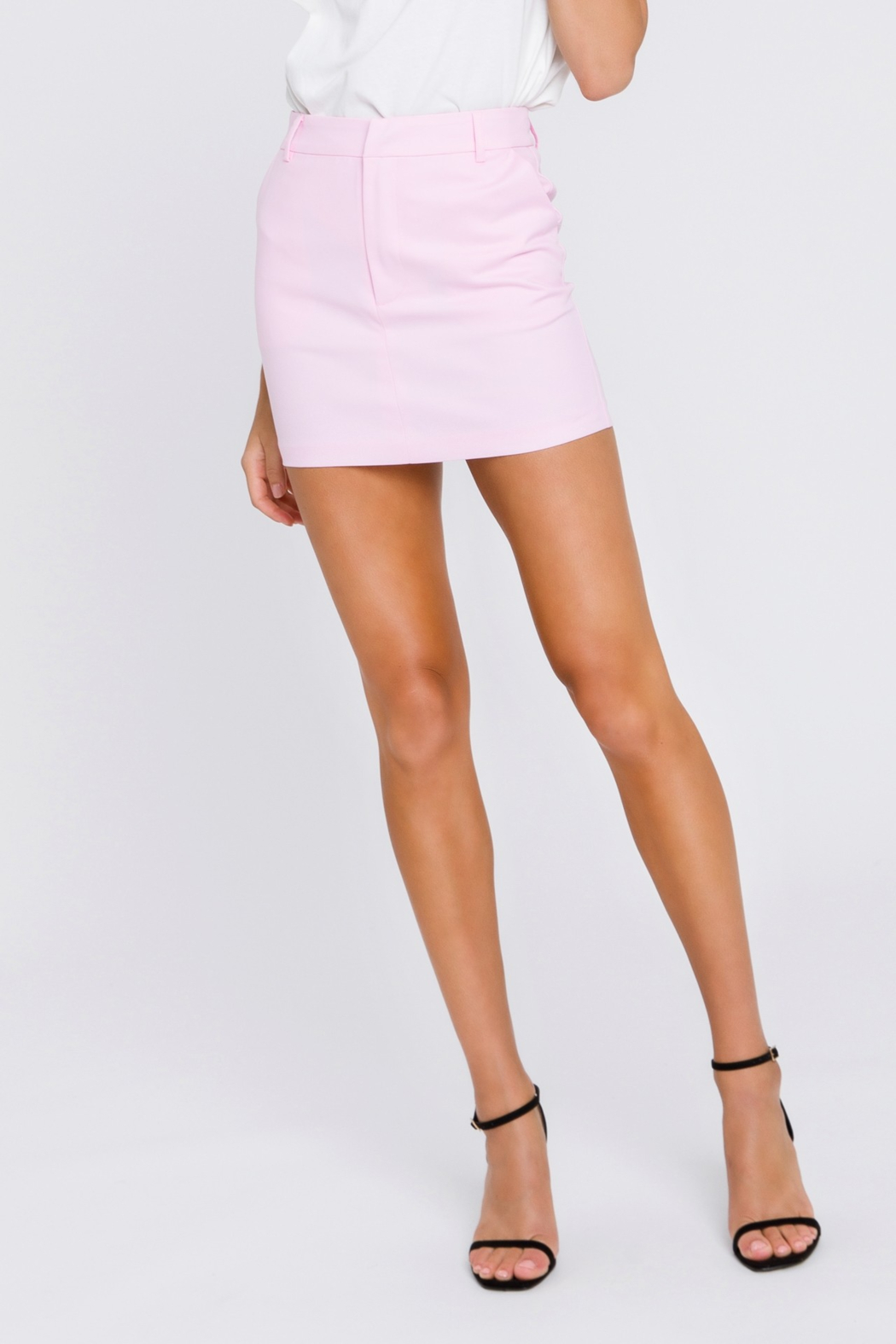 Grey Lab Solid Mini Skirt - Side Cropped Image
