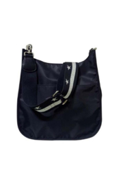 Ah!dorned Solid Nylon Messenger Bag with Canvas Strap - Product Mini Image