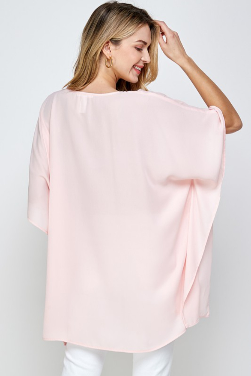 Caramela Solid Oversized Top - Front Full Image