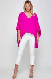 Caramela Solid Oversized Top - Front cropped