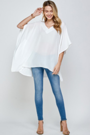 Caramela Solid Oversized Top - Side cropped