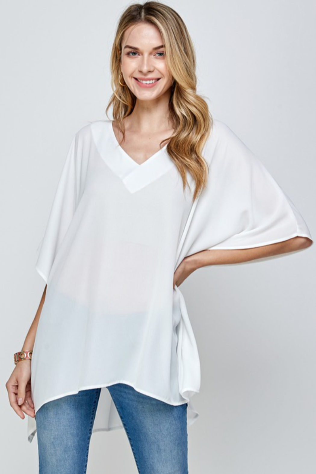 Caramela Solid Oversized Top - Front Cropped Image