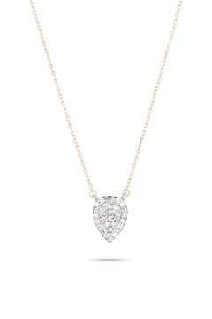 Adina Reyter Solid-Pave Teardrop Necklace - Product List Image