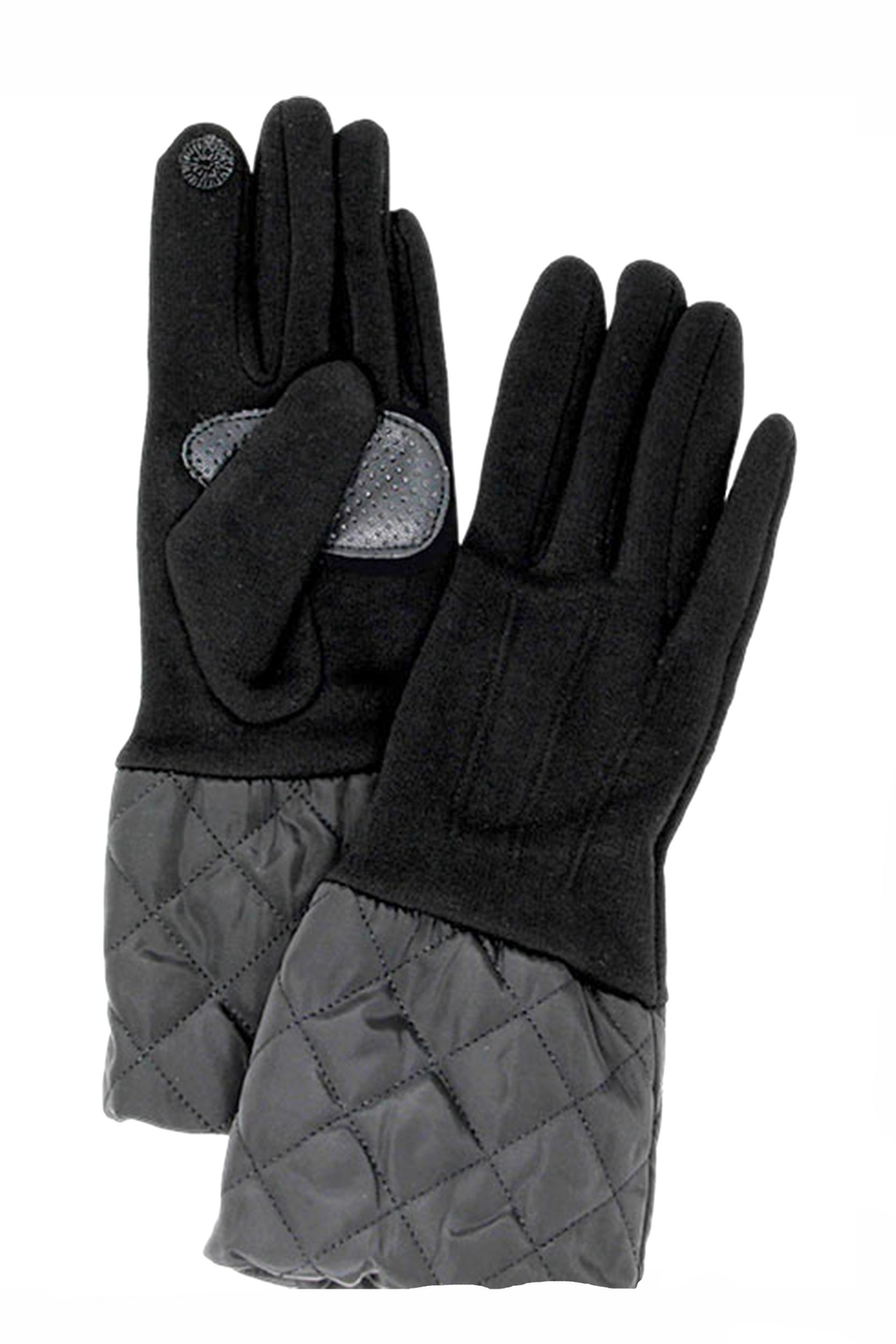 Love of Fashion Solid Quilted Gloves - Front Cropped Image