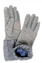 Love of Fashion Solid Quilted Gloves - Front cropped