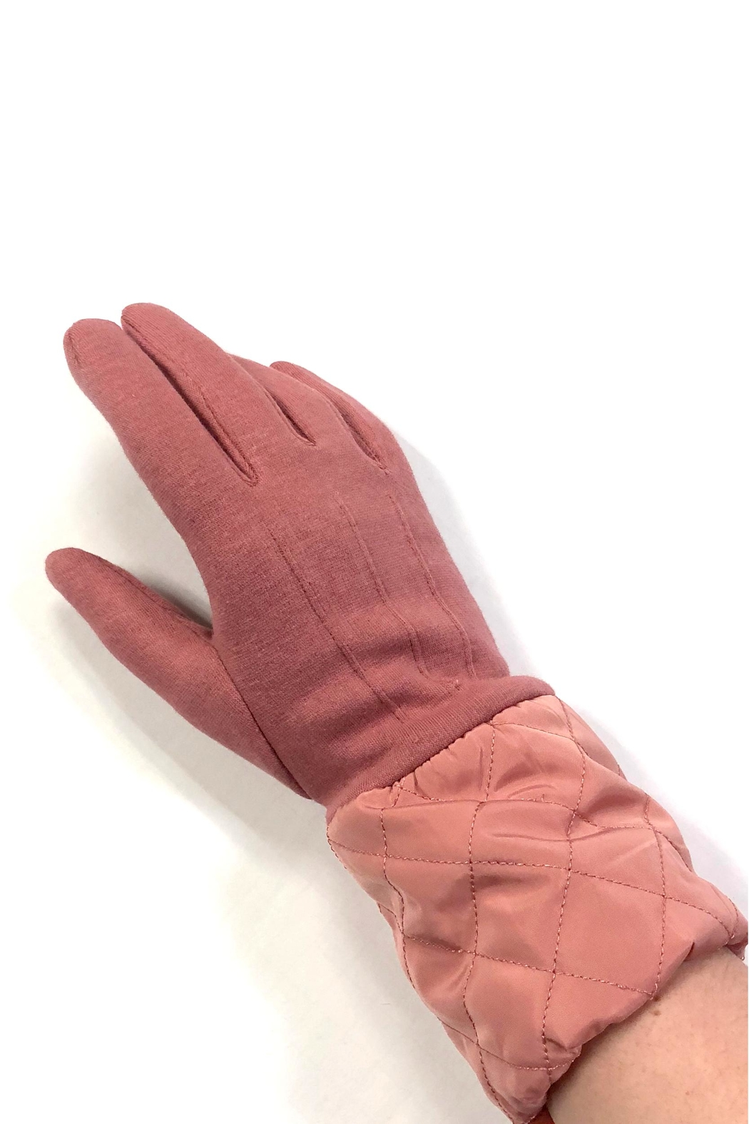 Love of Fashion Solid Quilted Gloves - Front Full Image