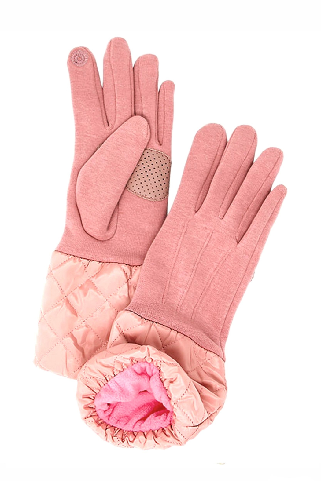 Love of Fashion Solid Quilted Gloves - Main Image