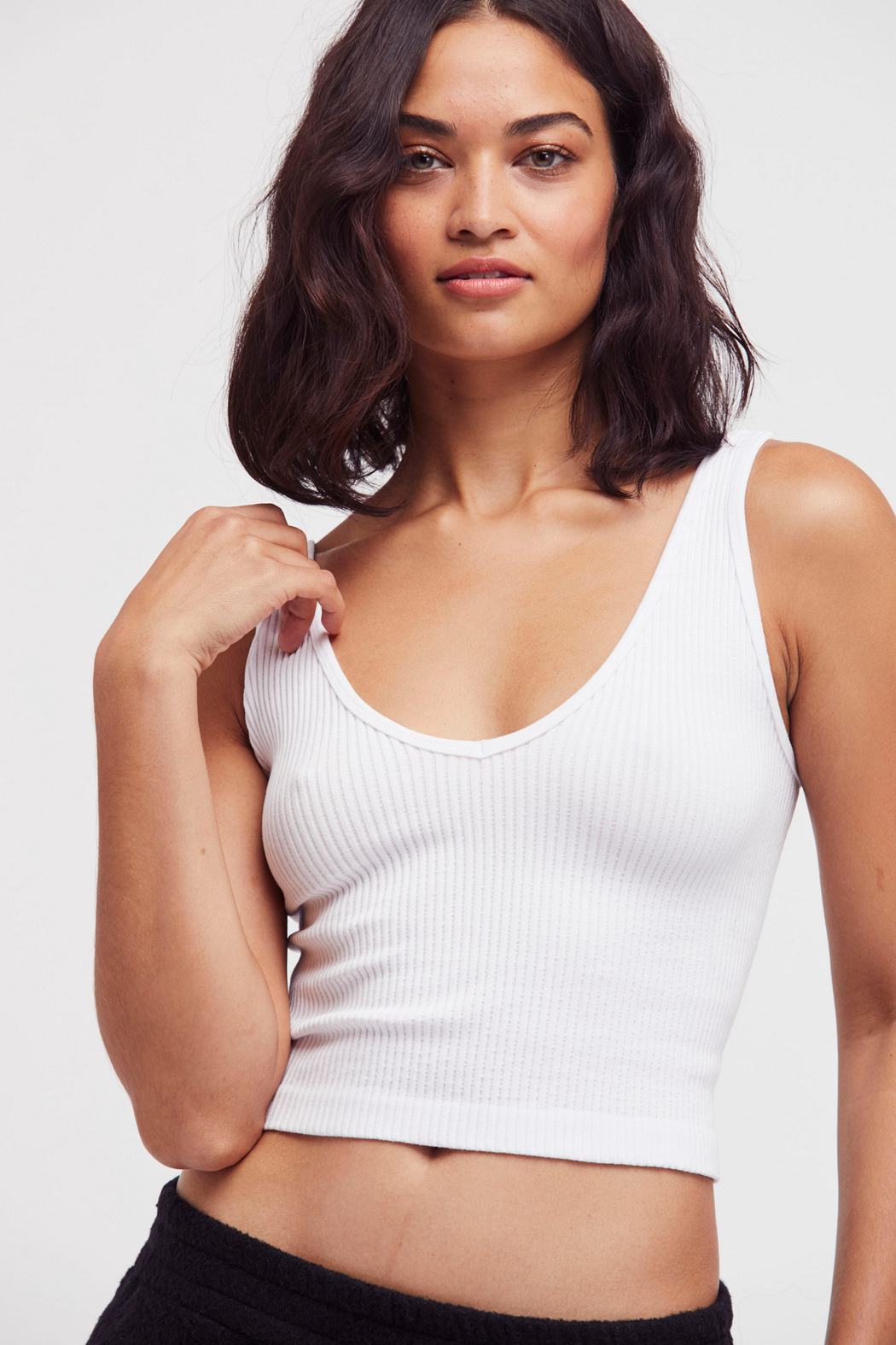 Free People Solid Rib Brami - Front Cropped Image
