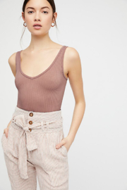 Free People Solid Rib Brami In Ballet - Product Mini Image