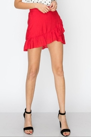 Favlux Solid Ruffle Skirt - Front full body
