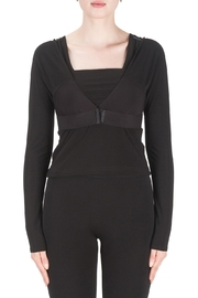 Joseph Ribkoff  Solid Shadow Sleeve, Black - Front cropped