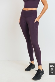 Mono B Solid & Slanted Panels Highwaist Leggings - Product Mini Image