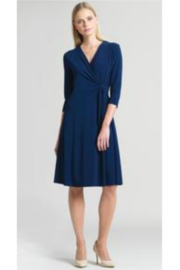 Clara Sunwoo Solid Soft Knit Dress w/ Side Detail - Product Mini Image