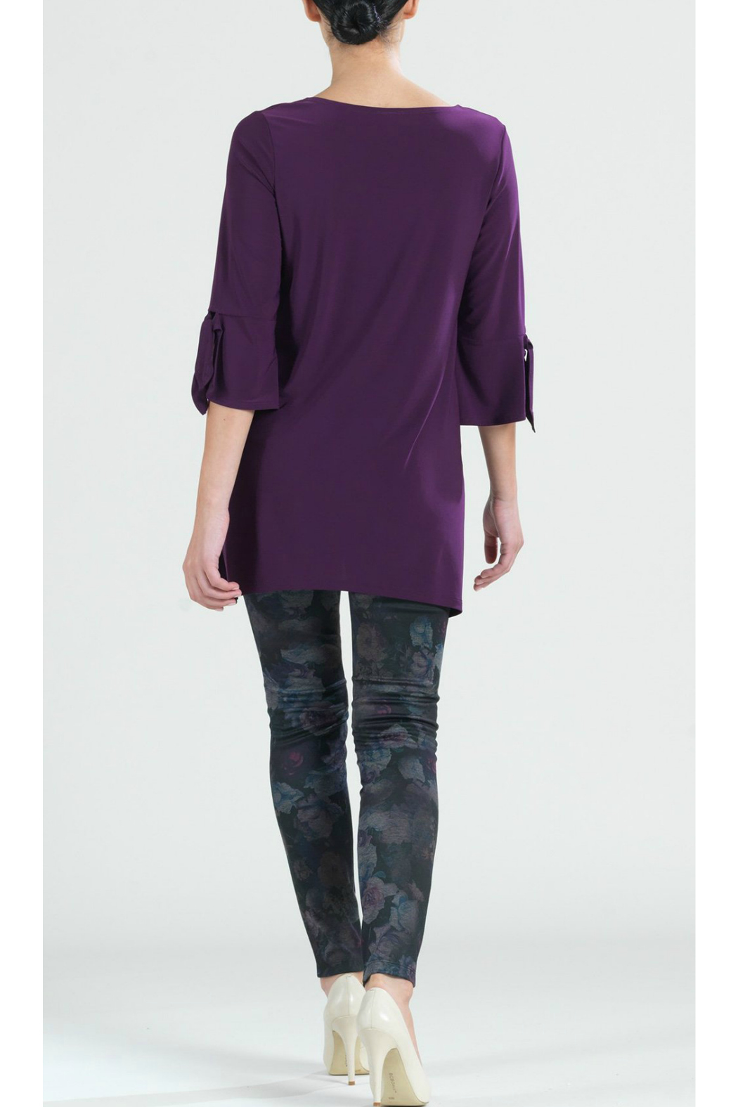 Clara Sunwoo Solid soft knit tunic - Side Cropped Image