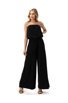 Ariella USA Solid Strapless Jumpsuit w Rope Belt - Product List Image