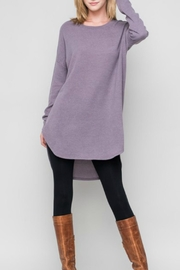 Bellamie Solid Sweater Tunic - Product Mini Image