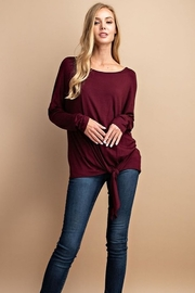 FSL Apparel Solid Tie Front Top - Side cropped
