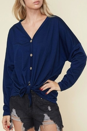 Fantastic Fawn Solid Tie Top - Front cropped
