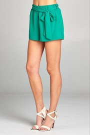 Caramela Solid Tie Waist Short - Product Mini Image