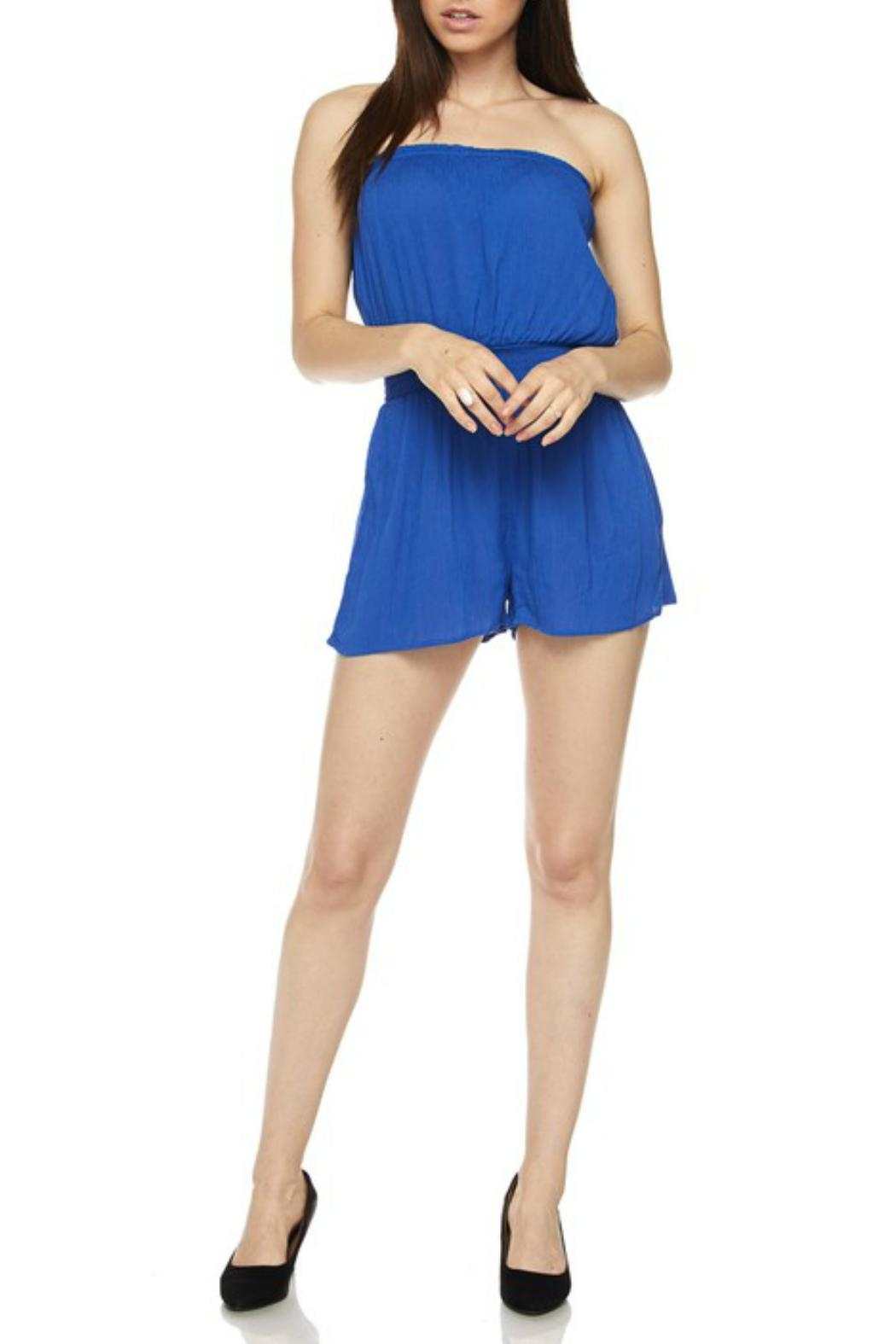 Minx Solid Tube Romper - Side Cropped Image