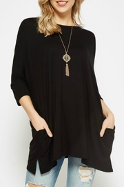 Bellamie Solid Tunic Top - Front cropped