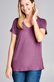 Active Basic Solid V-Neck Top - Product Mini Image