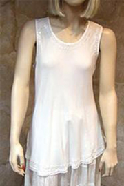 Indian Tropical Solid  Sleeveless Top - Product Mini Image