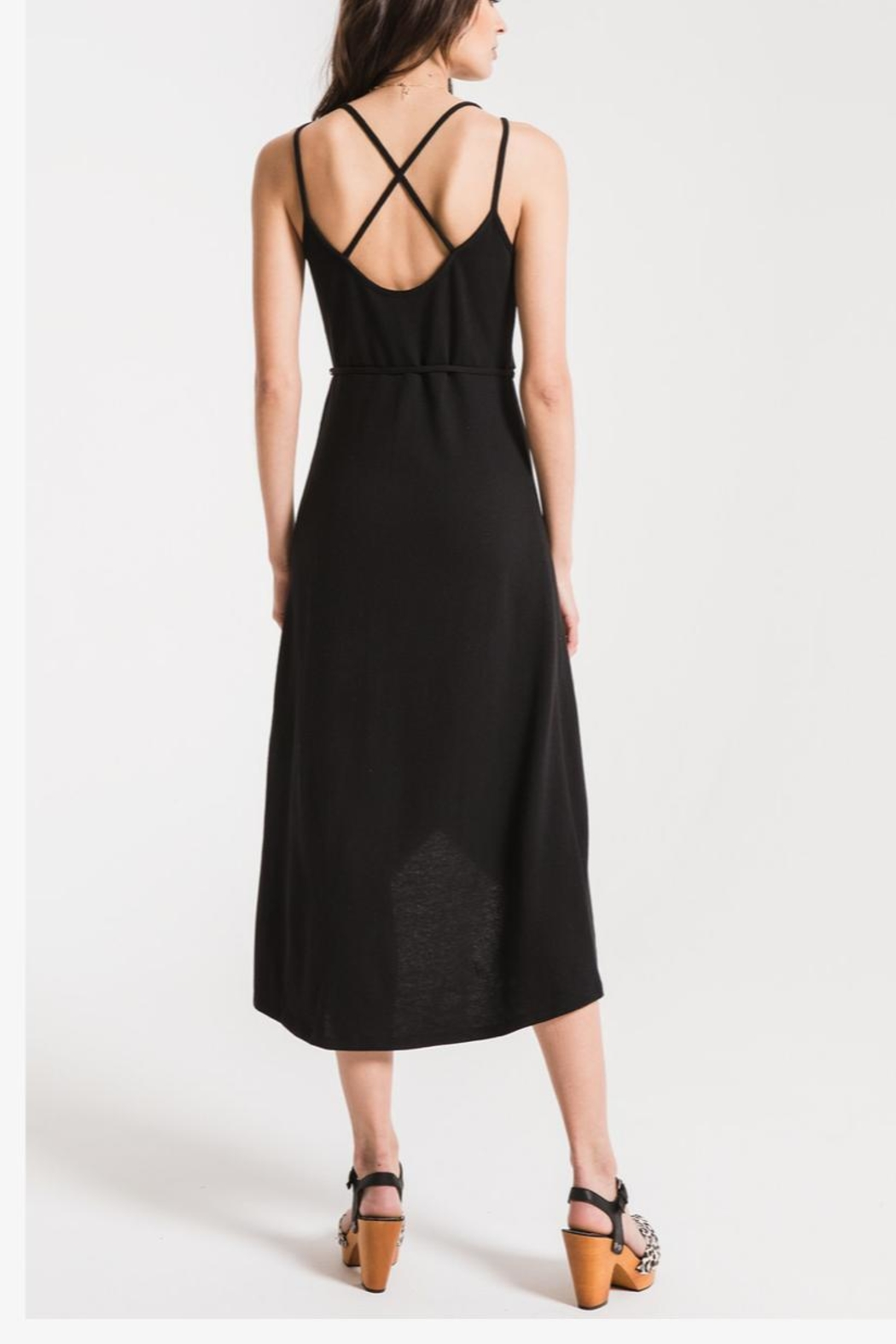 Zsupply Solid Wrap Dress - Front Full Image